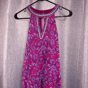 Hollister Beaded Floral Tank Top